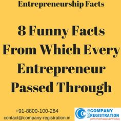 8 Funny facts from the life of entrepreneurs  http://bit.ly/1rqHItY  #Entrepreneur #Company_Registration_India #Global_Jurix