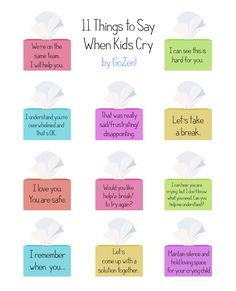 Don't say Don't Cry! when kids are crying as it invalidates their feelings. Here are 11 alternative things you can try. Mindful Parenting, Gentle Parenting, Kids And Parenting, Parenting Hacks, Parenting Articles, Peaceful Parenting, Natural Parenting, Affirmations For Kids, Mindfulness For Kids