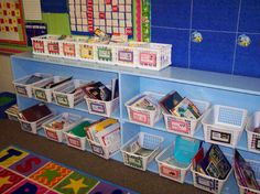 How do you create a that is both organized and enticing to young readers? Here a teacher illustrates how she set up a classroom library. She provides tips on acquiring books and materials, organizing the shelves, creating labels, and making it cozy. Library Labels, Library Organization, Library Ideas, Organization Ideas, Organizing Books, Book Bins, Book Baskets, Classroom Setup, Future Classroom