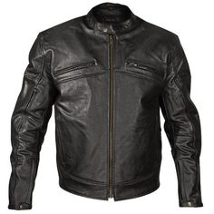 Xelement 105 Mens Armored Black Cowhide Leather Motorcycle Jacket  #Xelement #Motorcycle