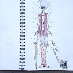 Do you still need umbrella when you wear washed silk jacket? @therationaldress #illustration #illustrationfashion #fall15 #fashioninspiration #fashionillustration #seasonless #readyforfall