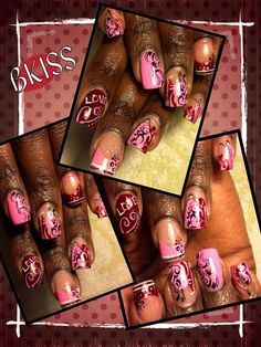 In love with pink and wine. Freestyle design and it looks so good.