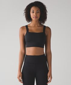 Reach for this sports bra on the days you want a little bit of extra security up top. The bra features a high neckline to help keep everything in place. We added Luxtreme® fabric to wick away unwanted moisture, so sweating won't shift your focus.