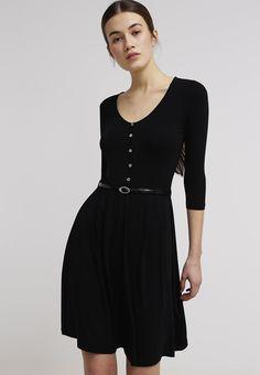 black jersey dress w/sleeves