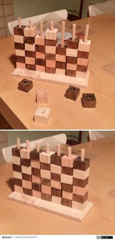 Wooden Puzzles, Wooden Toys, Wood Projects, Woodworking Projects, Diy Montessori Toys, Diy Amplifier, Wood Games, Geek Crafts, Diy Games