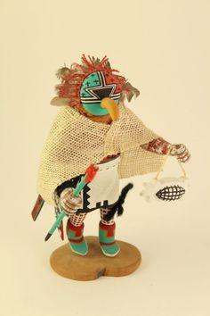 Vtg Native American Indian Hopi Ahola Gem God Kachina Doll Figure Signed Torivio