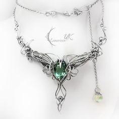 LIRVILMARH - silver and green amethyst by LUNARIEEN