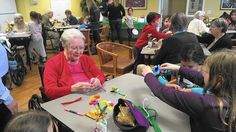 Great article about children and seniors working together on crafting an item for charity.  crafting, crafting for charity