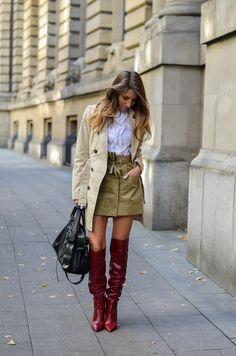 Hello Autumn :: Trenchcoat & rote Boots à la Marant