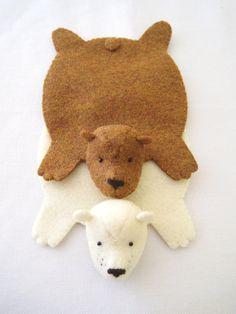 Bear rug coasters.... cuuuute!!!!