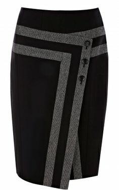 High Quality Newest Karen Millen Outlet SP029 Shiny tweed separates skirt multi Vouchers,Karen Millen outlet
