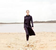 "Katherine Hooker of London ""contrast"" coat."