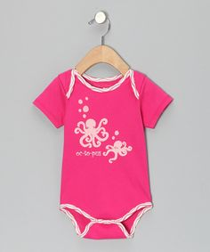 Take a look at the tiptoe & whisper Fuchsia 'Octopus' Bodysuit - Infant on #zulily today!