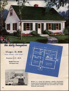 1940 S Style Home Plans | 1948 Hiawatha Estes Plans - No ...  |1948 Cape Cod House Plans