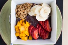 alex thomopoulos » Acai Breakfast Bowl with Gluten Free Salted Maple Granola