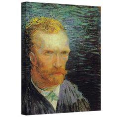 ''Self Portrait'' by Vincent Van Gogh Painting Print on Canvas