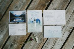 mountain inspired invitation