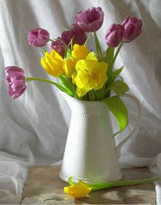 Tulips in a Jug - WetCanvas | Reference Image Library