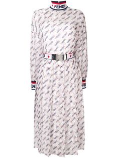 678a278c6f FENDI Mania logo-print silk-blend georgette dress.  fendi  cloth