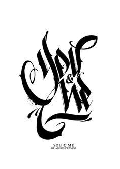 /// Black & white Calligraphy /// by Alexis Persani, via Behance