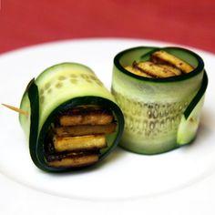 Healthy Snack: Vegan Cucumber Tofu Rolls