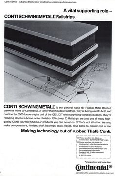 Conti Schwingmetall -Stopping the vibrations from shp! Ship Mast, Gas Boiler, Steam Turbine, Exhaust Gas, Electric Motor, Fresh Water, Ocean, The Ocean, Sea