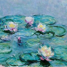 lonequixote: Water Lilies (detail) by Claude Monet (via @lonequixote)