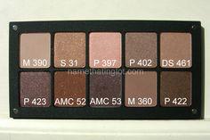 """INGLOT palette 10 pan - """"Cool Neutrals""""        (Matte 390 - Shine 31 - Pearl 397 - Pearl 402 - DS 461    Pearl 425 - AMC 52 - AMC 53 - Matte 360 - Pearl 422) by http://namethatinglot.blogspot.nl/"""