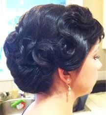 finger wave updo hairstyles - Google Search