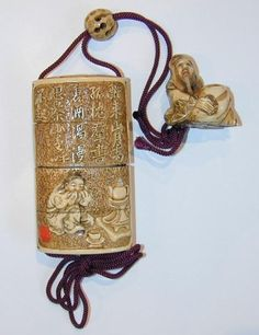 example of the inrō, ojime and netsuke