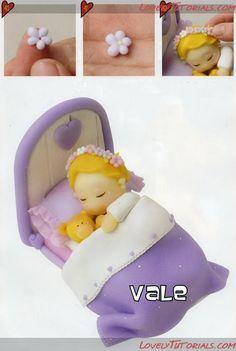 "МК лепка ""Девочка в кроватке"" -Baby girl in bed sculpting tut - Мастер-классы по украшению тортов Cake Decorating Tutorials (How To's) Tortas Paso a Paso"