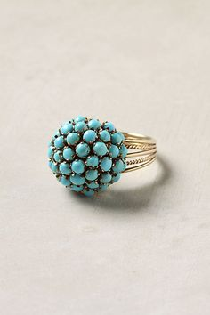 Turquoise Burst Ring  #Jewelry