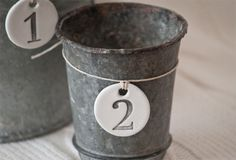 Handmade Clay Number Tags: 1-2-3, Set of 3