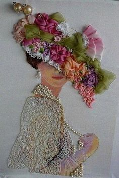 Wonderful Ribbon Embroidery Flowers by Hand Ideas. Enchanting Ribbon Embroidery Flowers by Hand Ideas. Silk Ribbon Embroidery, Embroidery Art, Embroidery Stitches, Embroidery Patterns, Embroidery Supplies, Embroidery Fashion, Band Kunst, Ribbon Art, Embroidery For Beginners