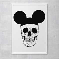 Poster - Mouse Skull - Decohouse