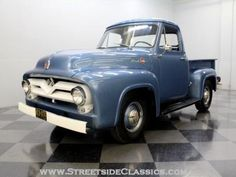 1955 Ford F100 Old Ford Pickup Truck, Old Ford Pickups, F100 Truck, Old Ford Trucks, Antique Trucks, Vintage Trucks, Cool Trucks, Cool Cars, Classic Trucks