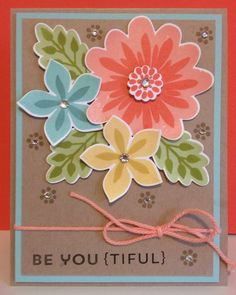 Stampin' Up! Card by Catherine Loves Stamps: Be You {Tiful} Flower Patch