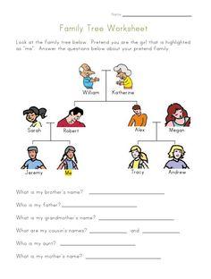 worksheets for kids | Family Tree Worksheet for Kids