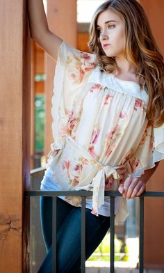 Enchanted Summer Sweet Pea Sheer Lace Blouse  by frillsnfrippery, $95.00