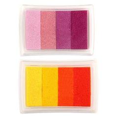 GSFY-Gradient Red Multicolor Ink Stamp Pad Inkpad Washable Kids Ink Stamp