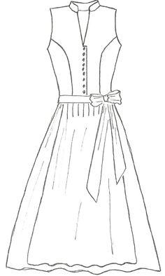 Hochgeschlossenes Dirndl Marie - New Ideas Dirndl Dress, Boho Dress, Office Dresses, Elegant Dresses, Dresses Online, Sewing, Outfit, Shopping, Collection