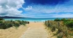 Trading Melbourne architecture today for sand between my toes at Apollo Bay.  #apollobay #greatoceanroad #seeaustralia #travel #wanderlust #panorama #iphoneography #australia #travelgram #fun #sand #ocean by kat1202 http://ift.tt/1LQi8GE