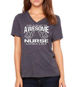 Items Similar To Nurse Christmas Gift Shirt AWESOME NURSE Birthday For Nursing Student Her On