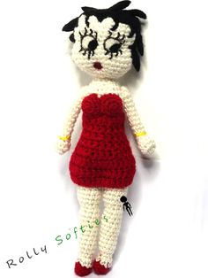 Betty Boop amigurumi. Schema gratis per realizzare Betty Boop amigurumi. Lo schema è facile da seguire, seguilo per realizzare la tua Betty Boop a uncinetto! Betty Boop amigurumi free pattern. This is a 100% free, easy-to-follow pattern to crochet your own Betty Boop amigurumi. English at the bottom of the page.