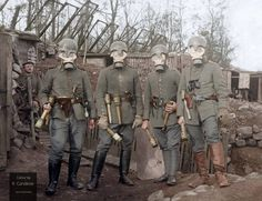 WWI; Senior NCO (left) and three German officers in the Vosges sector, 1915 https://www.facebook.com/WW1-Colourised-Photos-450822585061599/