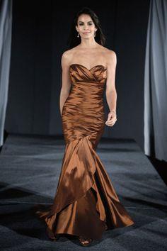 Fashionable trumpet / mermaid dropped waist taffeta dress for bridesmaid