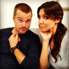 Check out behind-the-scenes photos from NCIS: Los Angeles! Best Tv Shows, Favorite Tv Shows, Serie Ncis, Kensi Blye, Ncis Cast, Eric Christian Olsen, Daniela Ruah, Ncis New, American Series