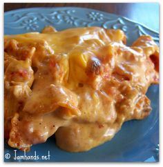 Mexican Chicken Casserole at www.JamHands.net