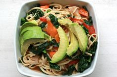 Kamut Udon Noodles with Kale & Avocado Oil by SweetOnVeg on Flickr.