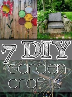 Everything Plants and Flowers: 12 DIY Garden Crafts- Fun Projects, Ideas and Tuto. Garden Yard Ideas, Garden Crafts, Diy Garden Decor, Lawn And Garden, Garden Projects, Diy Crafts, Fun Projects, Garden Decorations, Outdoor Crafts